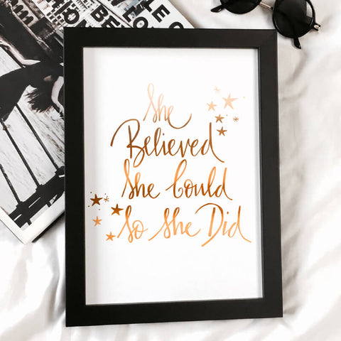 copper foil she believed she could so she did print