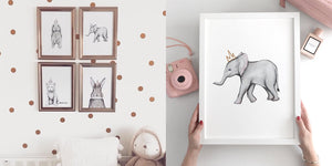 nursery decor animal art pictures