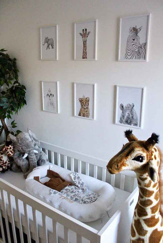 safari nursery animal prints