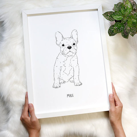 Bespoke Pet Portrait Line Drawing