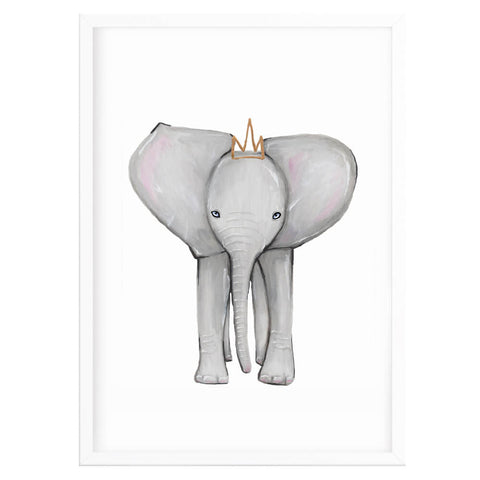 Baby Elephant Nursery Decor Print