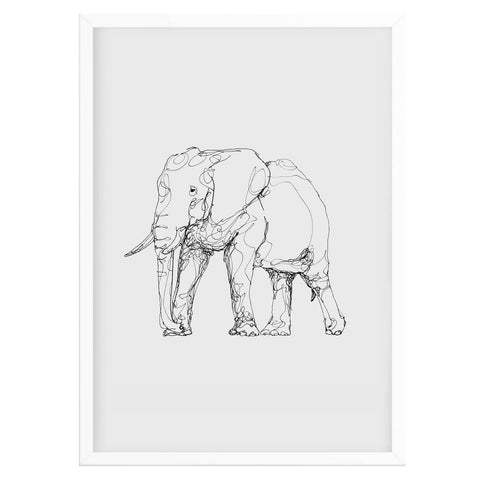 Contemporary Elephant Print