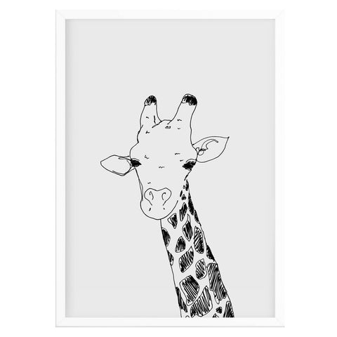 Contemporary Giraffe Print