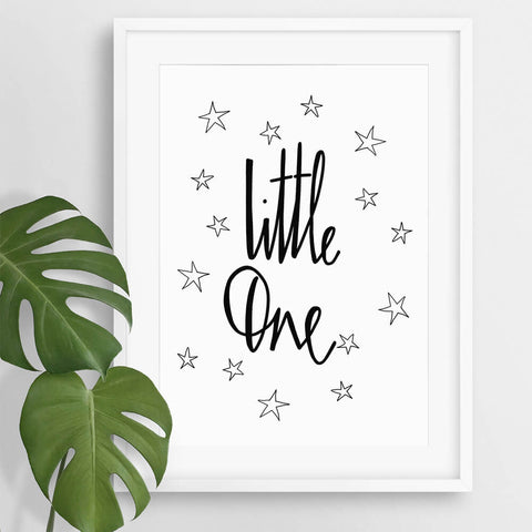 typography nursery art print