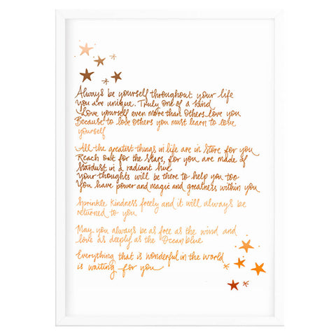 Copper Foil Nursery Poem