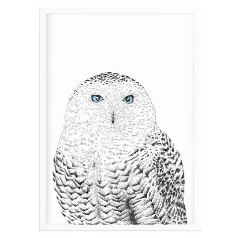 Snowy Owl Nursery Decor Print