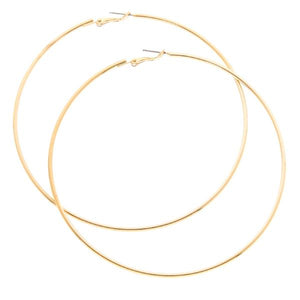 Earrings - Hoops Gold 3pck