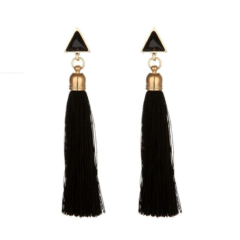 Tassel triangle - black