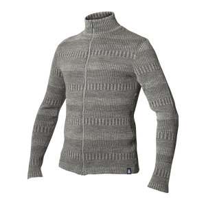 Wooljacket grey organic cardigan