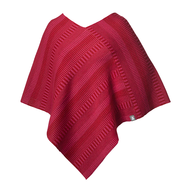 Ullponcho Red / Pink