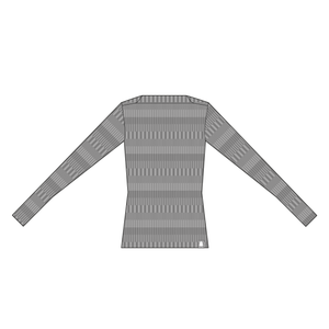 Ulltröja båthals organic wool sweater boatneck grey