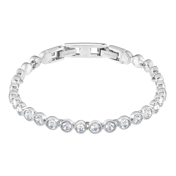 Swarovski Tennis Bracelet, White, Rhodium Plated