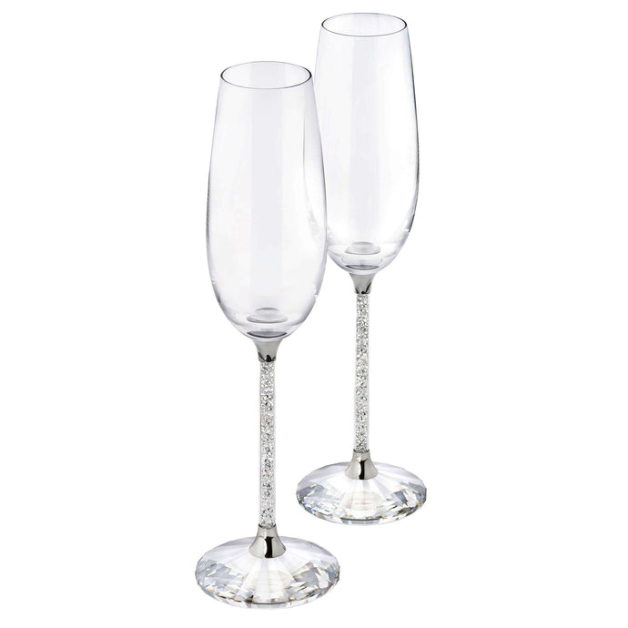 Swarovski Crystalline Toasting Flutes (Set Of 2), Clear Crystal
