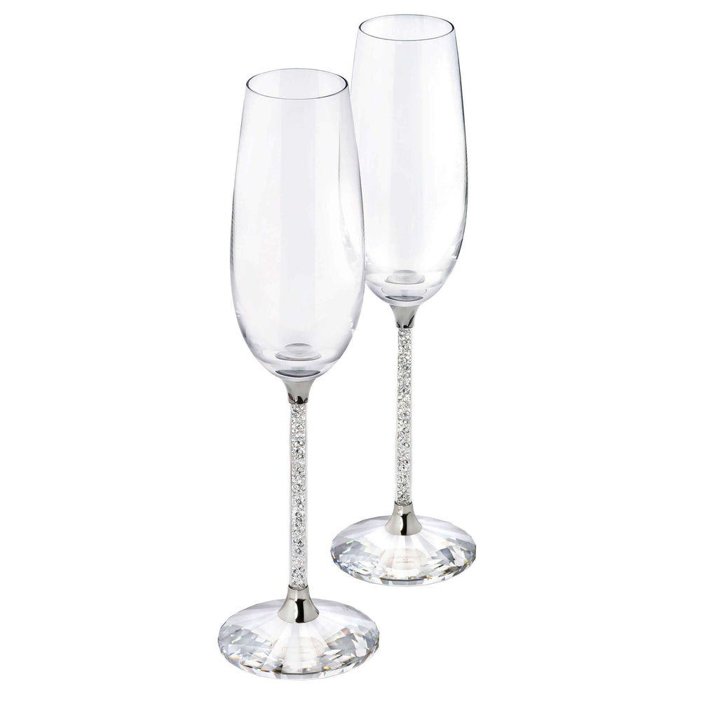 Crystalline Toasting Flutes (Set Of 2), Clear Crystal