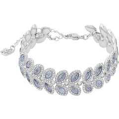 Baron Bracelet, Blue, Rhodium Plated