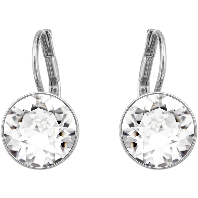 Swarovski Bella Mini Pierced Earrings, White, Rhodium Plated