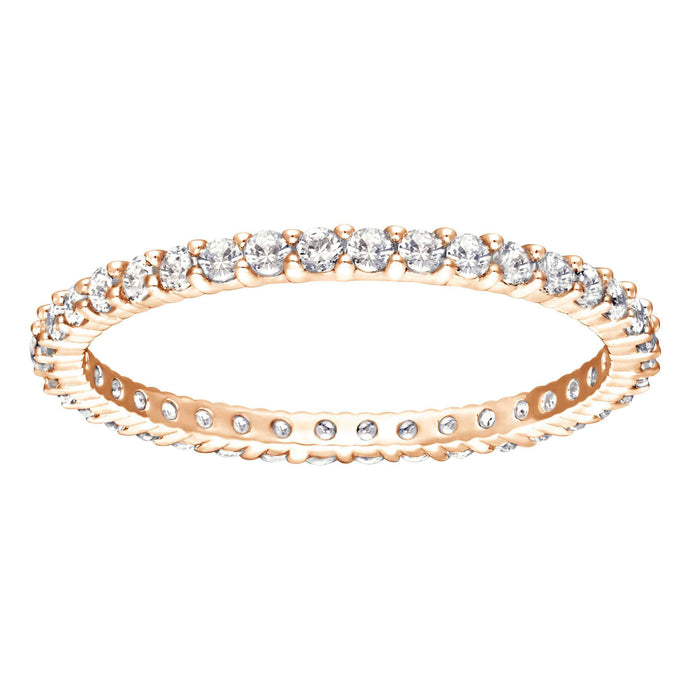 Vittore Ring, White, Rose Gold Plated