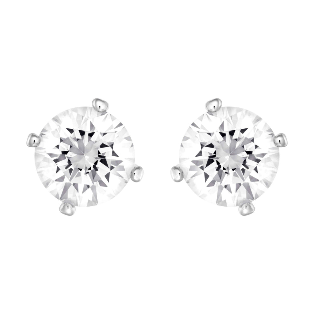 Swarovski Attract Pearl Pierced Earrings, White, Rhodium Plating