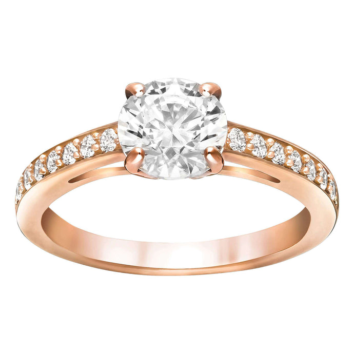 Swarovski Attract Round Ring, Rose Gold Plated