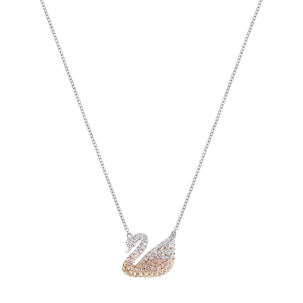 Swarovski Iconic Swan Pendant, Multi-Coloured, Rhodium Plated