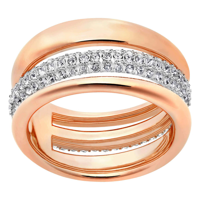 Swarovski Exact Ring, White, Rose Gold Plated