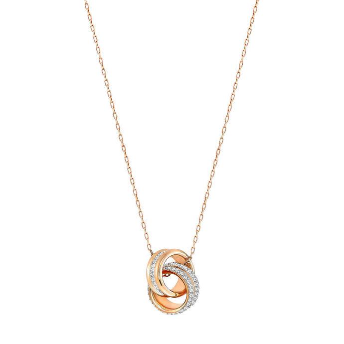 Swarovski Further Pendant, Small, White, Rose Gold Plated