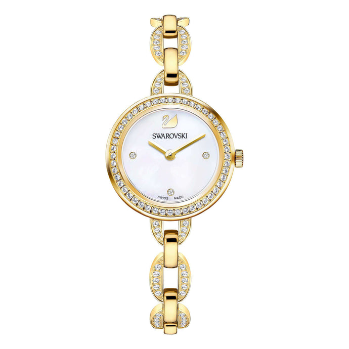 Swarovski Aila Mini Watch, Gold Tone