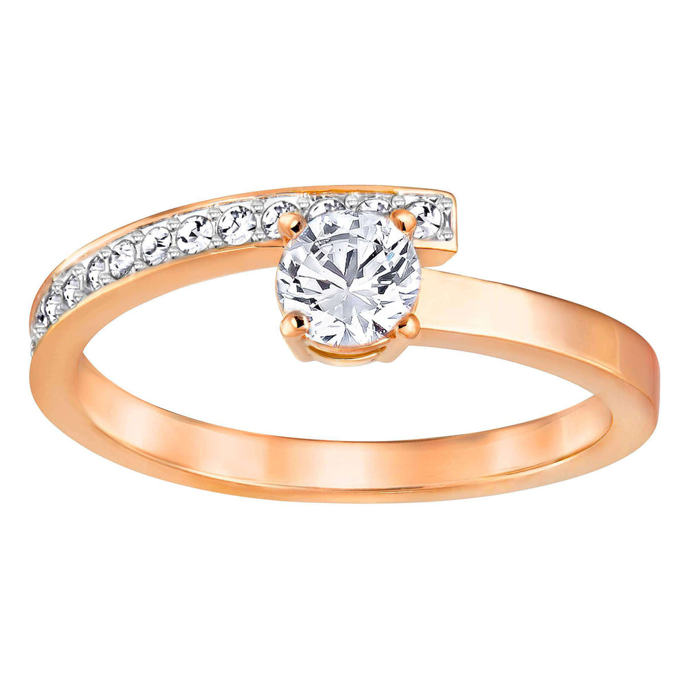 Swarovski Fresh Ring, White, Rose Gold Plating