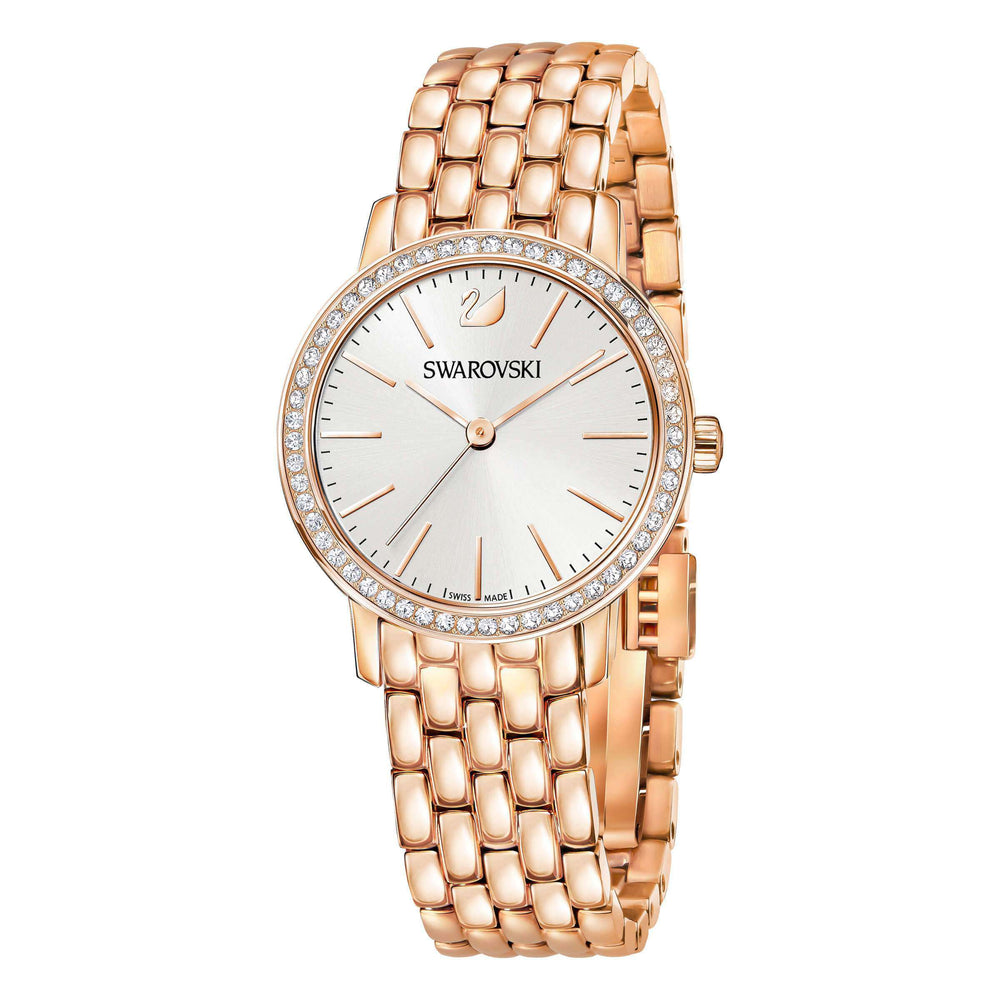 Graceful Mini Watch, Metal Bracelet, Rose Gold Tone