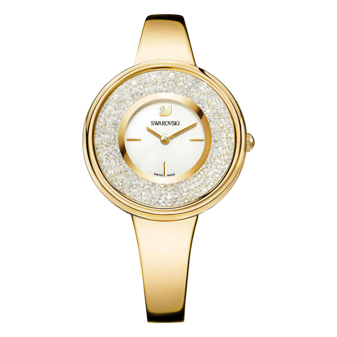 Crystalline Bracelet Watch, Gold Tone