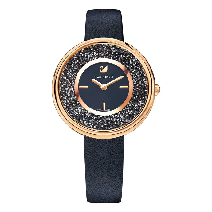 Swarovski Crystalline Pure Watch, Black, Rose Gold Tone