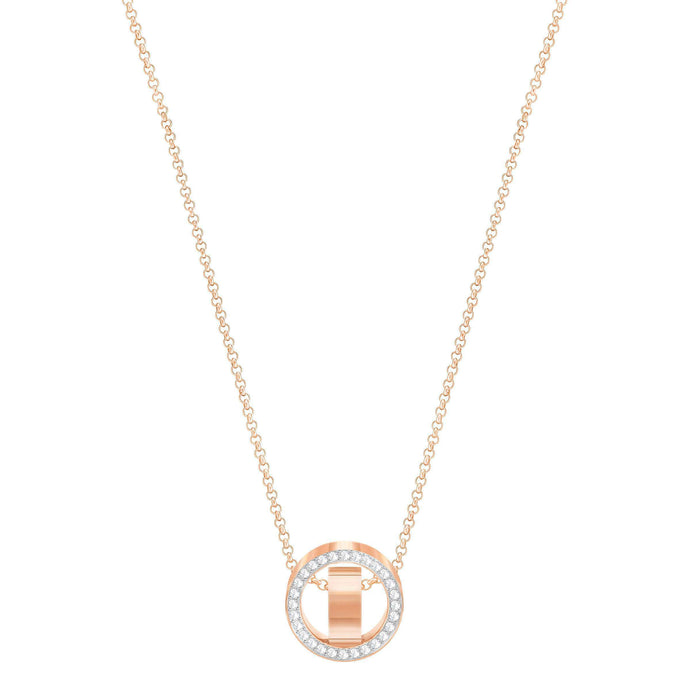 Swarovski Hollow Pendant, Small, White, Rose Gold Plated