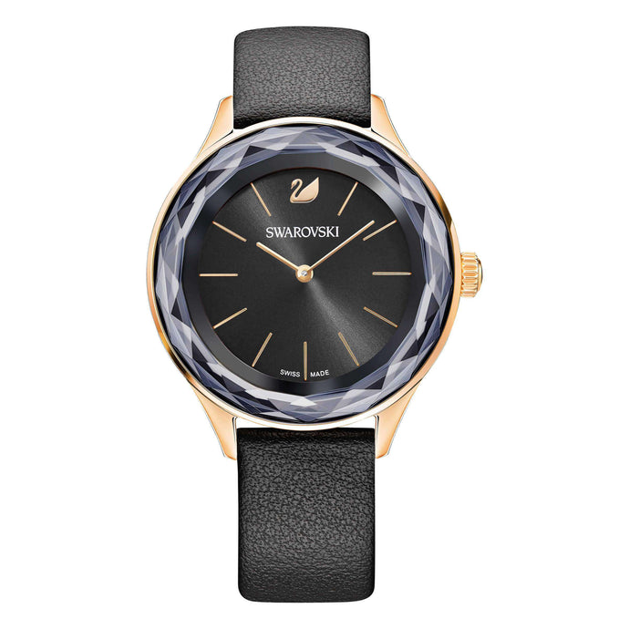 Swarovski Octea Nova Watch, Black, Rose Gold Tone