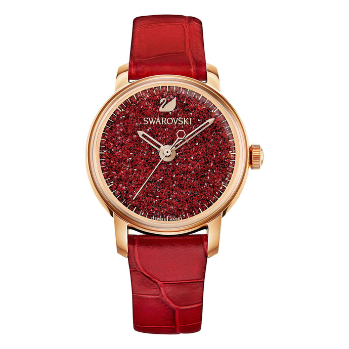 Swarovski Crystalline Hours Watch, Red, Rose Gold Tone