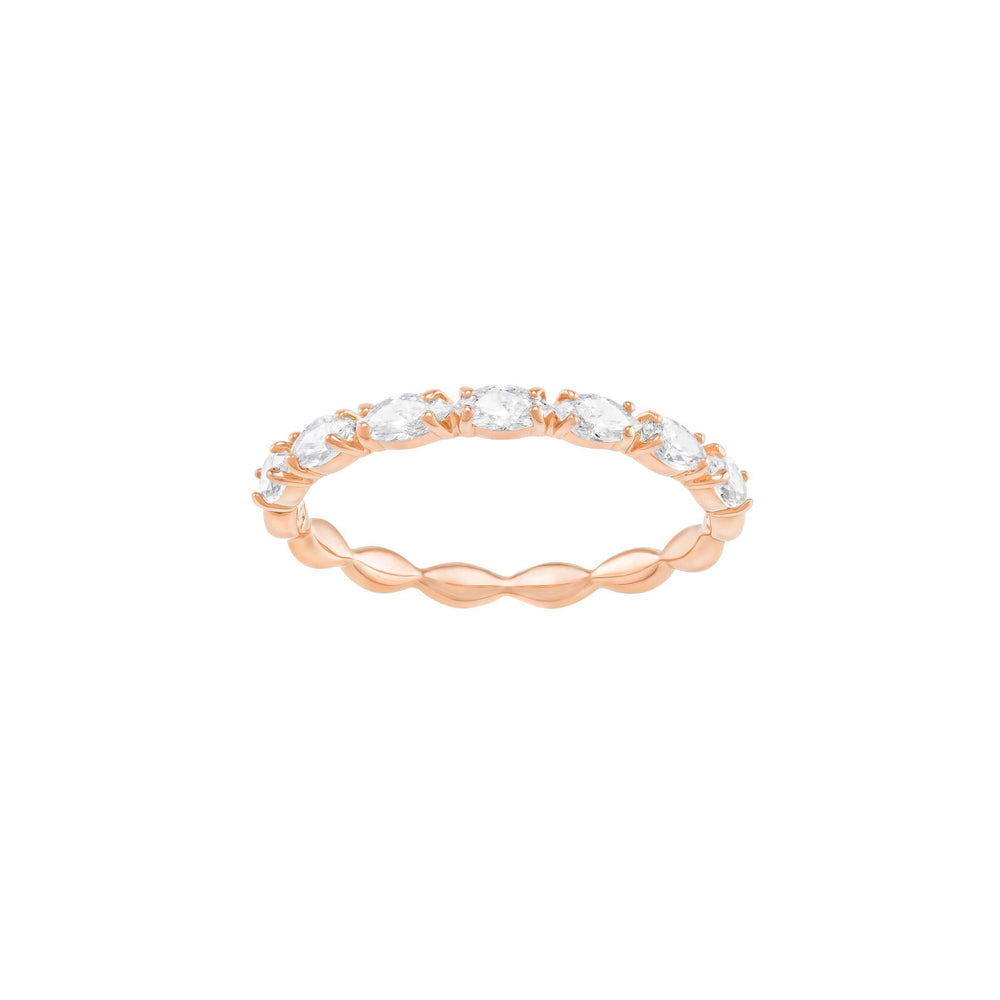 Swarovski Vittore Marquise Ring, White, Rose Gold Plated