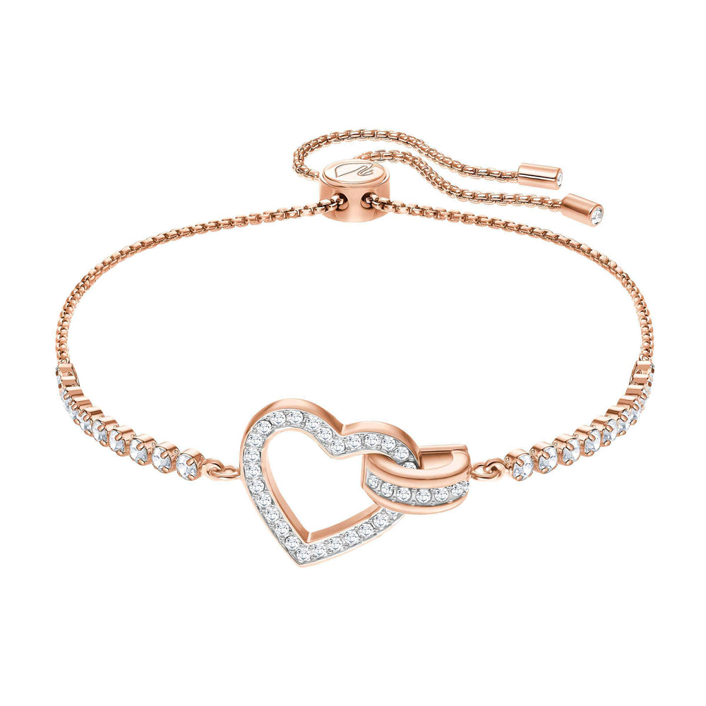 Lovely Bracelet, White, Rose Gold Plating