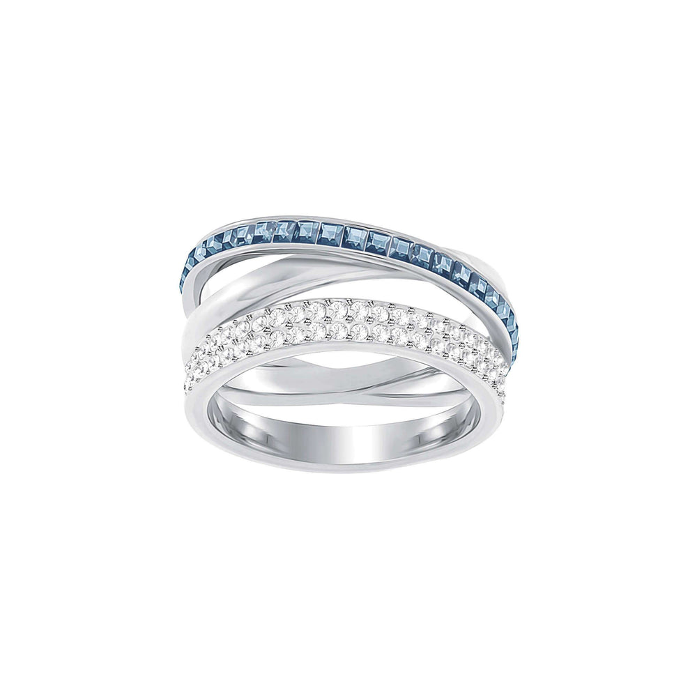 Hero Ring, Blue, Rhodium Plating