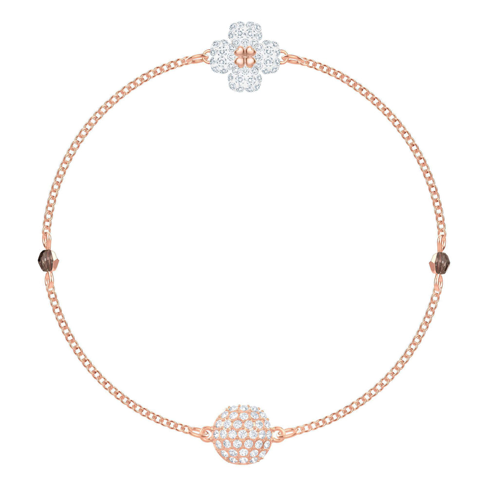 Swarovski Swarovski Remix Collection Clover, White, Rose Gold Plating