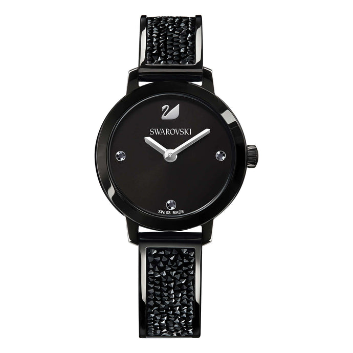 Cosmic Rock Watch, Metal Bracelet, Black
