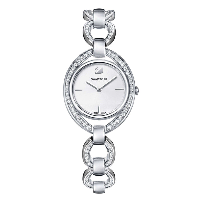 Swarovski Stella Watch, Metal Bracelet, White, Stainless Steel