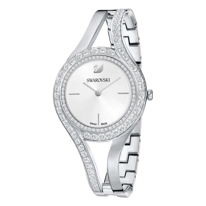 Swarovski Eternal Watch, Metal Bracelet, White, Silver Tone