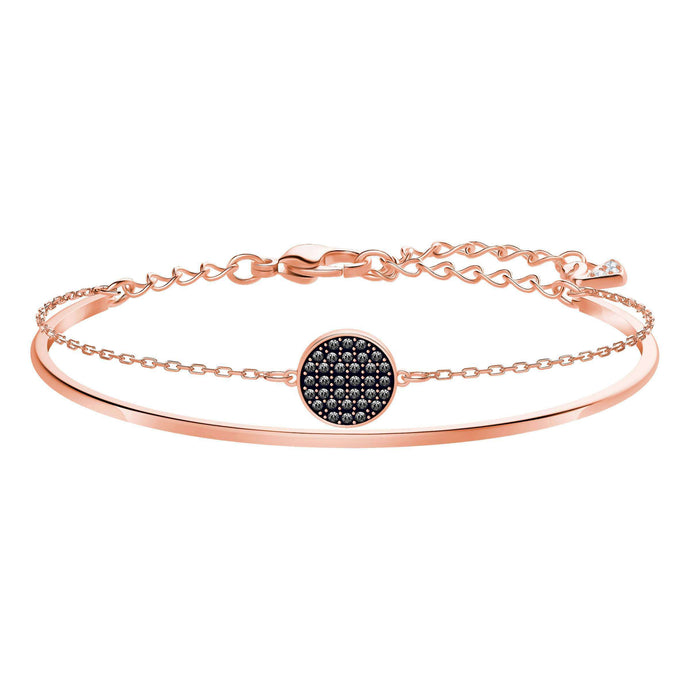 Ginger Bangle, Gray, Rose Gold Plating
