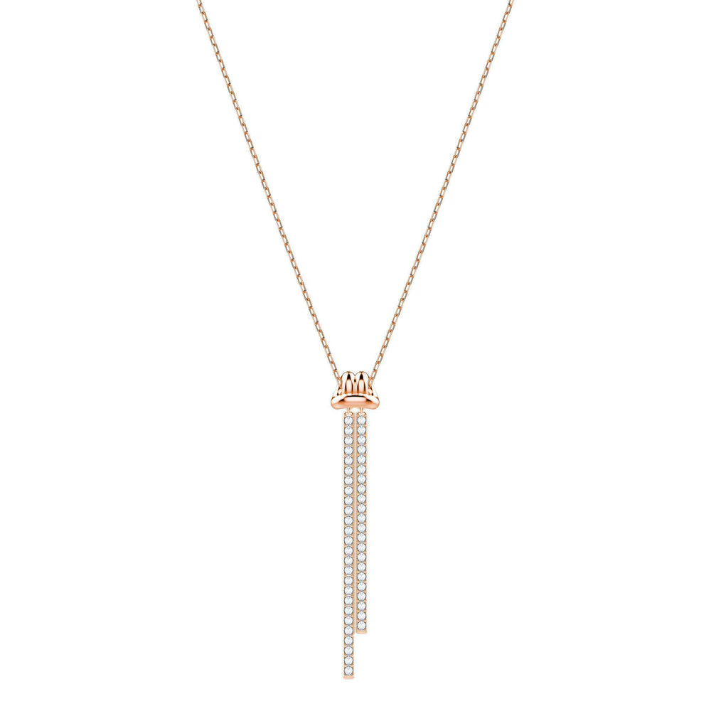 Lifelong Y Pendant, White, Rose Gold Plating