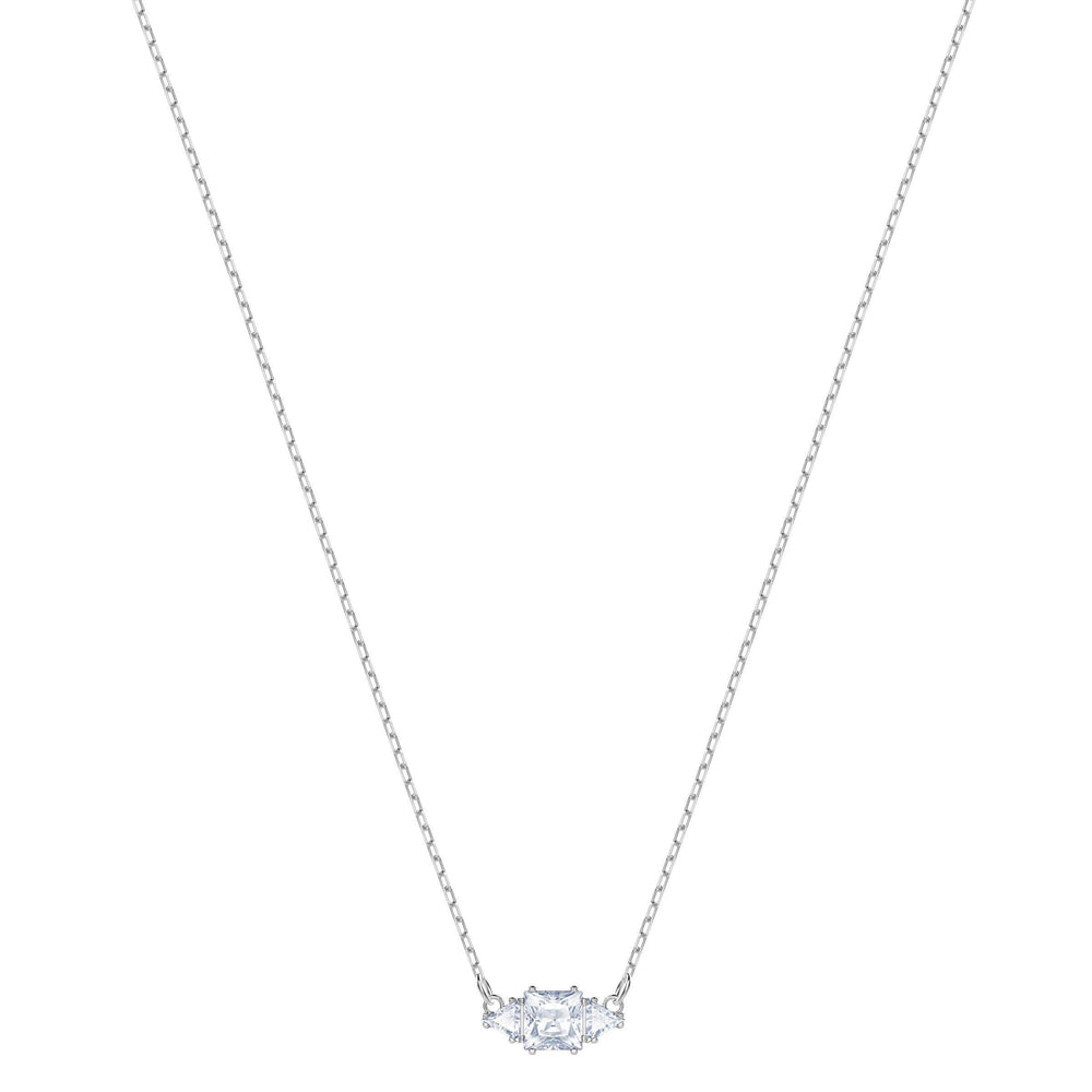 Swarovski Attract Trilogy Necklace, White, Rhodium Plating