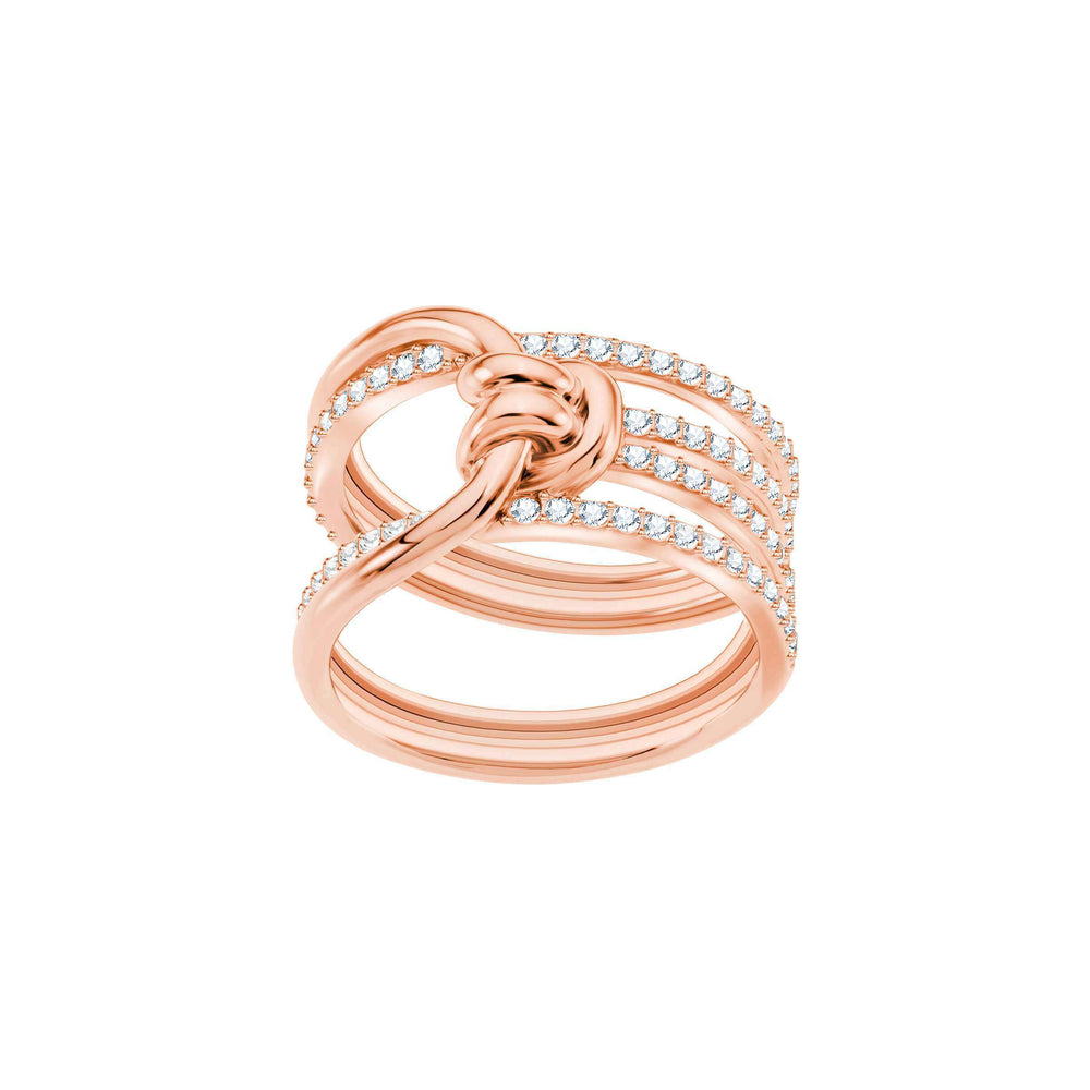 Lifelong Wide Ring, White, Rose Gold Plating