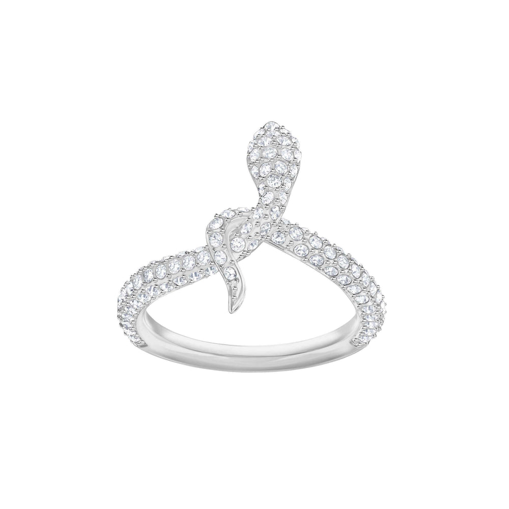Swarovski Leslie Ring, White, Rhodium Plating