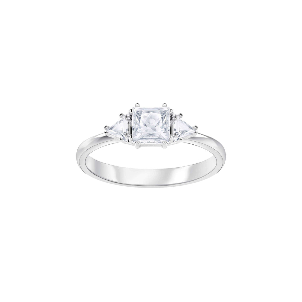 Swarovski Attract Trilogy Ring, White, Rhodium Plating