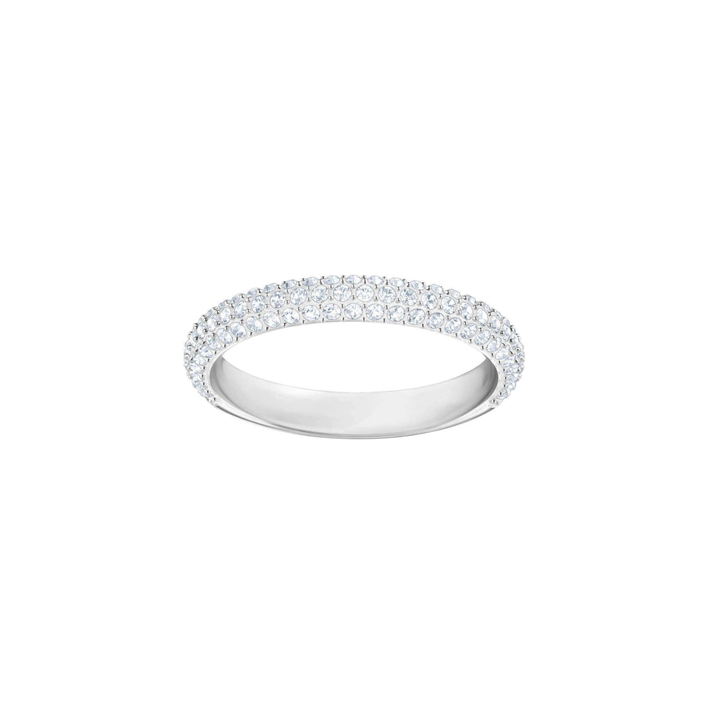Swarovski Stone Mini Ring, White, Rhodium Plating