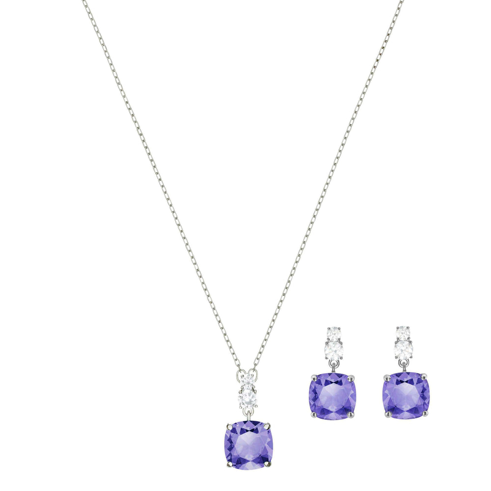 Vintage Set, Violet, Rhodium Plating