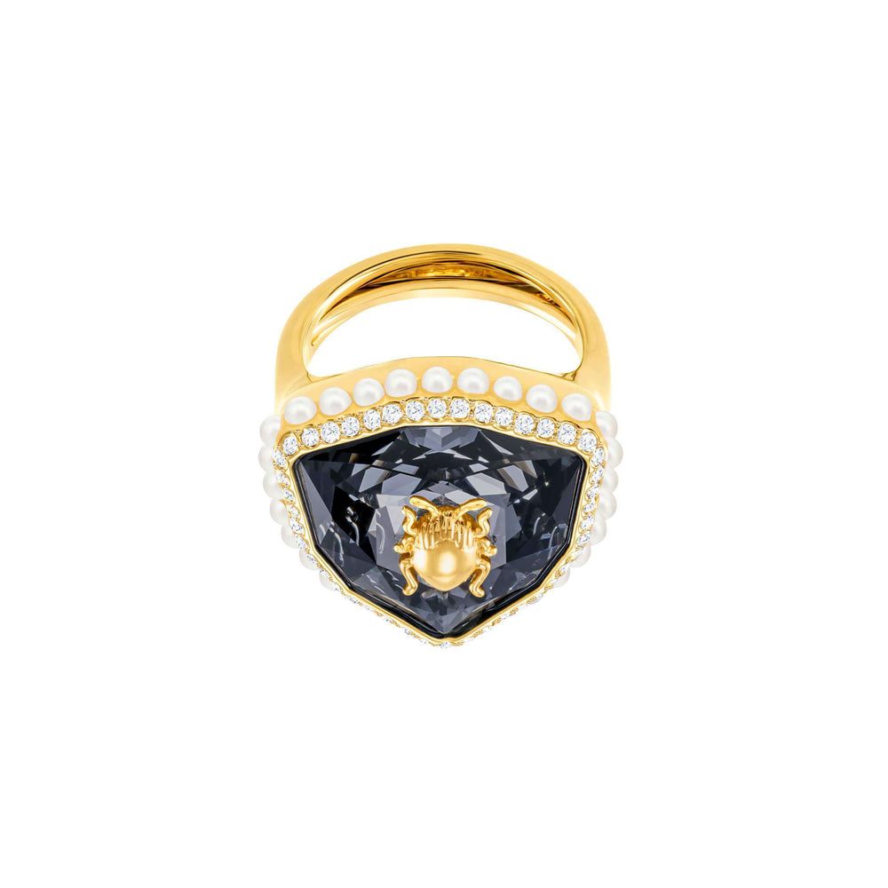 Swarovski Magnetic Cocktail Ring, Multi-Colored, Gold Plating